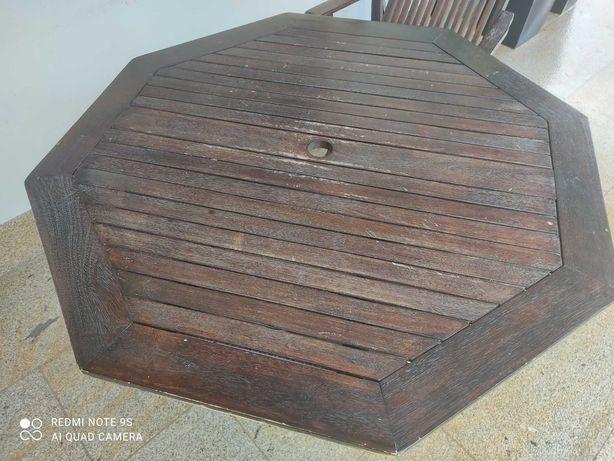 Mesa de madeira acácia em excelente estado apenas 20€ oferta cadeira