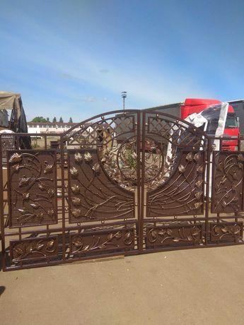 Ковані ворота дешево 17000