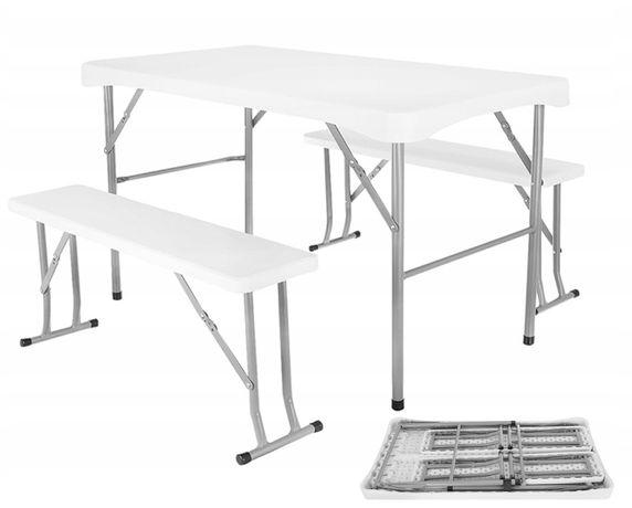 Складной стол туристический стіл розкладний 113 см+2 лавки Польша