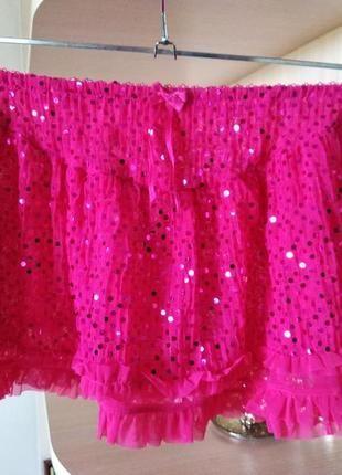 Шифоновая юбка для девочки 5-8 лет для танцев и других мероприятий.