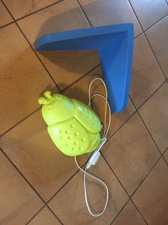 Lampa biedronka + półka Ikea