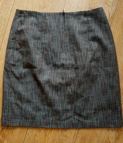 Spódnica krótka czarna niebieska 38 M linia A ala denim