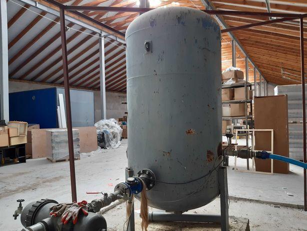 Zbiornik stalowy ciśnieniowy 2.5m3 + osprzęt do nawodnienia