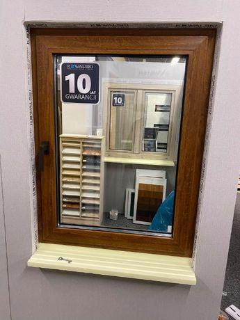 Okno PCV 865x1350 złoty dąb, 3 szyby