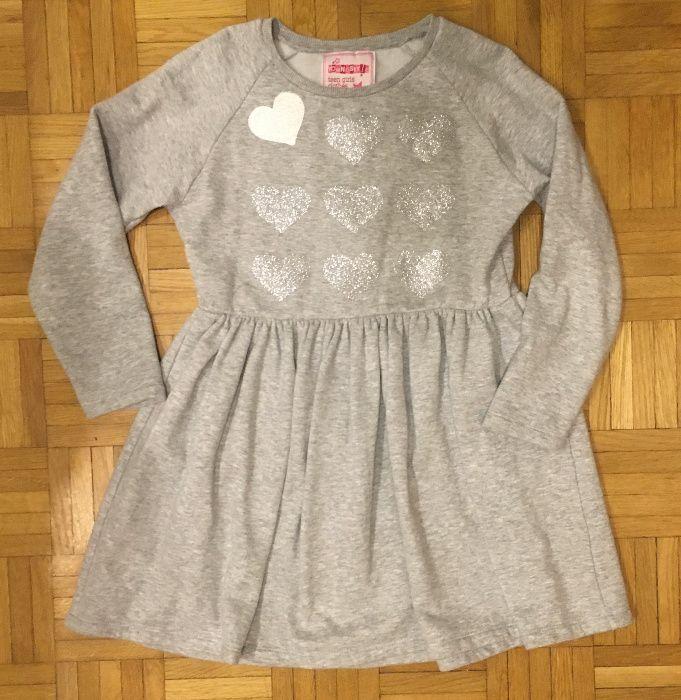Szara ocieplana sukienka Young Style 146cm Warszawa - image 1