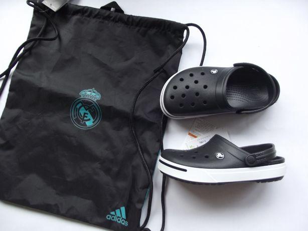 Crocs 36 M4W6 + adidas Real Madryt worek