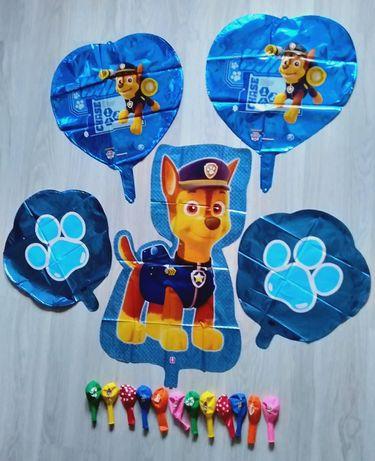 Duży zestaw balonów 17 sztuk Psi Patrol