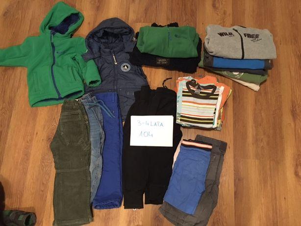 Ubrania chłopięce, pakiet, 3-4 lata, rozmiar 104, używane