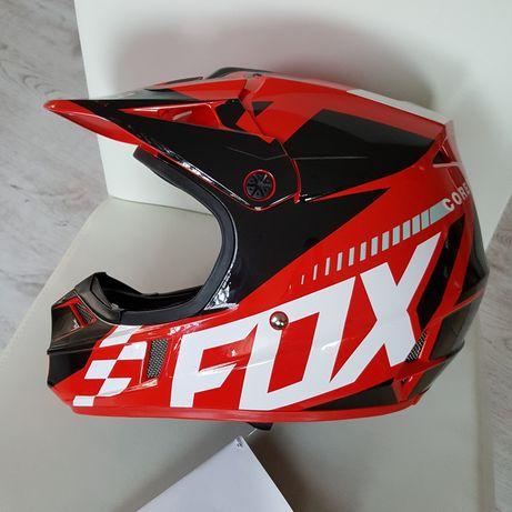 Kask FOX V1 Sayak - junior S (48 cm) NOWY - cross enduro
