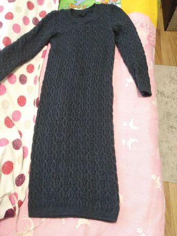 Платье вязаное тёплое на осень, зиму