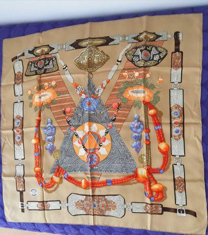 Lenço em Seda Hermès 'Tibete' 90x90