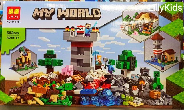 Конструктор Lari Minecraft 11478 Набор для творчества, 582 дет.