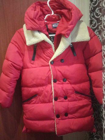 Куртка зимняя теплая удлинённая