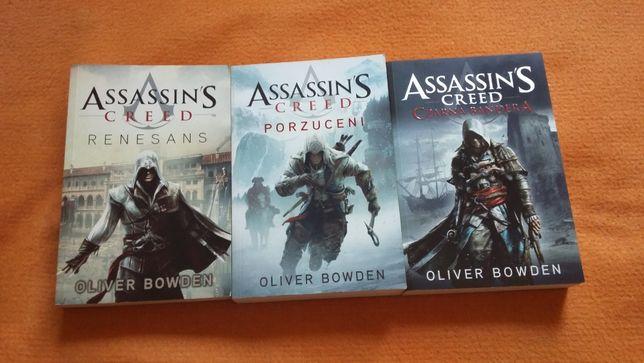 3 książki z serii Assassin's Creed Olivera Bowdena