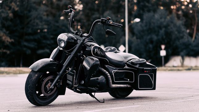 Мотоцикл кастом баггер Suzuki Boulevard Intruder (не Harley Davidson)