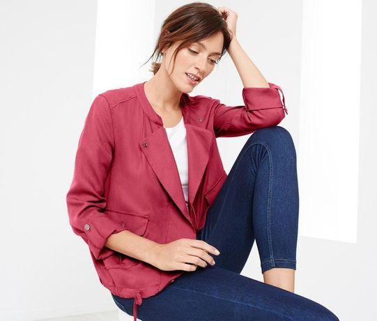 Куртка ветровка ягодного цвета tchibo евро 40 наш 46