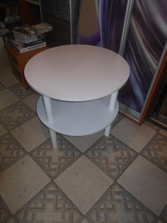 Stolik okolicznościowy okrągły biały inne kolory kawowy