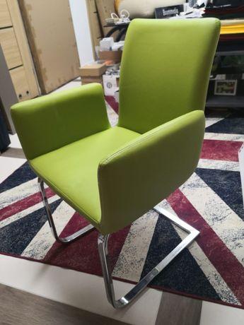 krzeslo fotel skorzane zielone