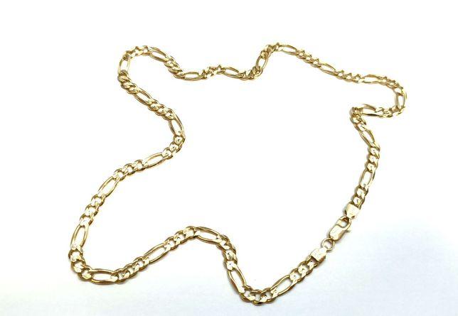 Piękny gruby złoty łańcuszek