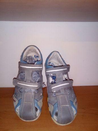 Туфли босоножки кожаные
