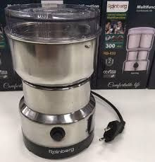 Кофемолка Rainberg роторная Электрическая из нержавеющей стали 300ВТ