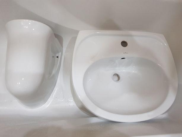 Umywalka łazienkowa z syfonem i korkiem click-clack