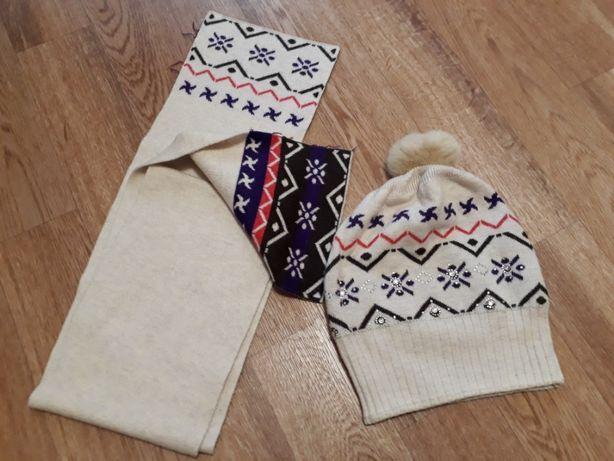 шапка шарф зима комплект