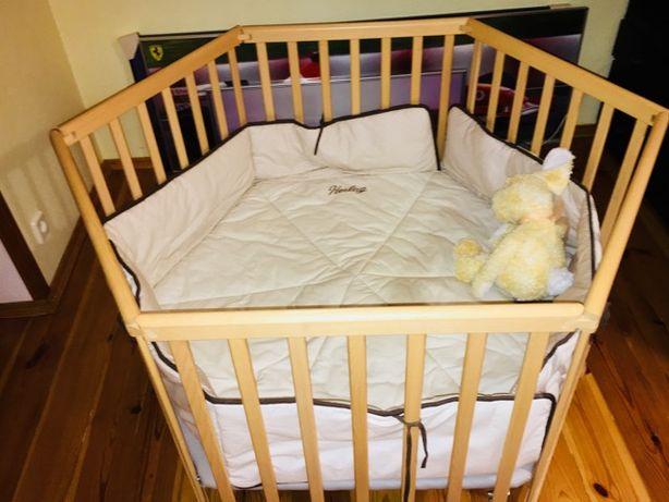 Манеж - кроватка деревянная