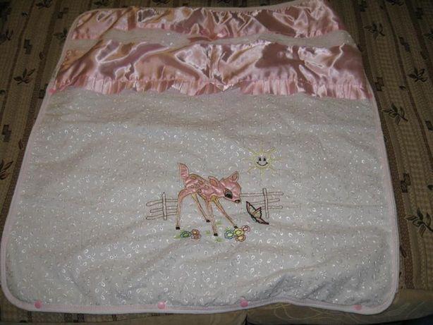 Одеяло, конверт для девочки