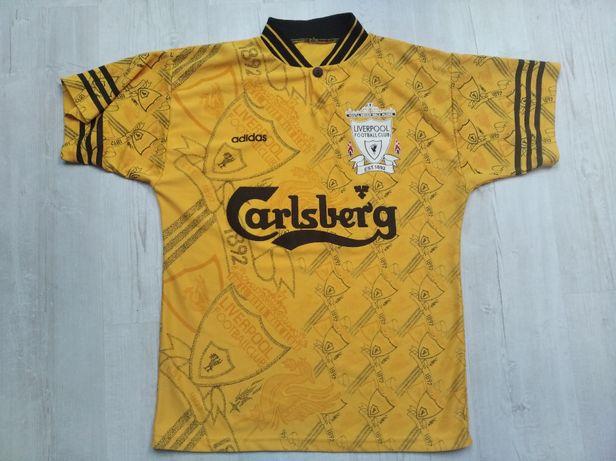 Koszulka wyjazdowa Liverpool Adidas Carlsberg z sezonów 94-96 roz.M