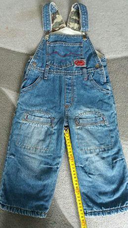 Детский зимний джинсовый комбинезон