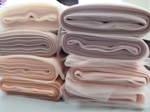 Отрез ткани ткань фатин серебро пудра евро сетка