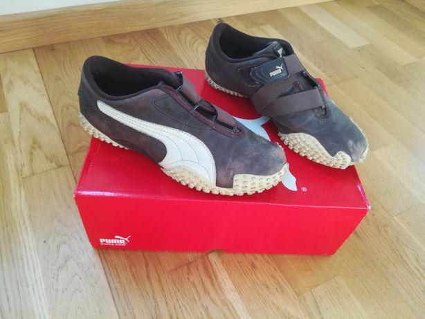 Pumy 38 24 cm buty sportowe brązowe skórzane