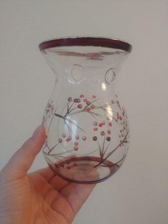 Yankee Candle szklany kominek do wosków jesienny jarzębina gałęzie
