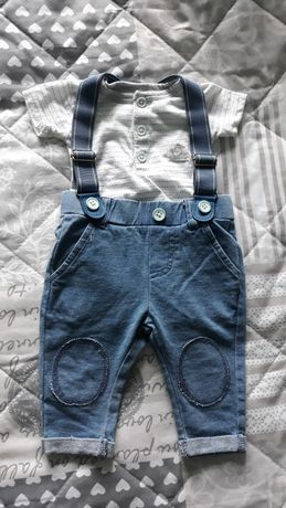 Komplet cool club Body i spodnie z szelkami