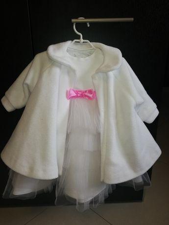 Komplet ubranek dla dziewczynki do chrztu/ na wesele roz. 74