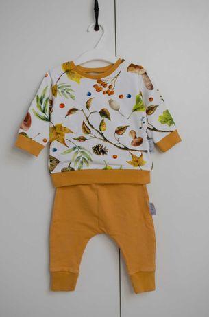 Komplet bluza+spodnie, rozmiar 74, stan jak nowy