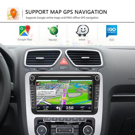 "Mega Radio 2 din 8"" GPS NAVI android VW Passat Golf Skoda Octawi SEAT"