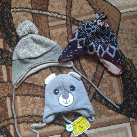 Шапка зимная для мальчика hm, шапка зимова, шапочка для хлопчика 3-6 м