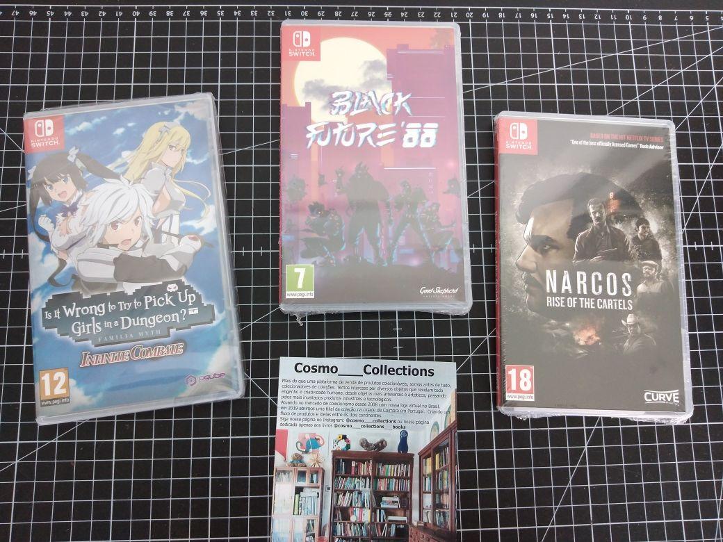 Jogos Nintendo Switch Novos e Selados, Narcos, future black 88, its wr