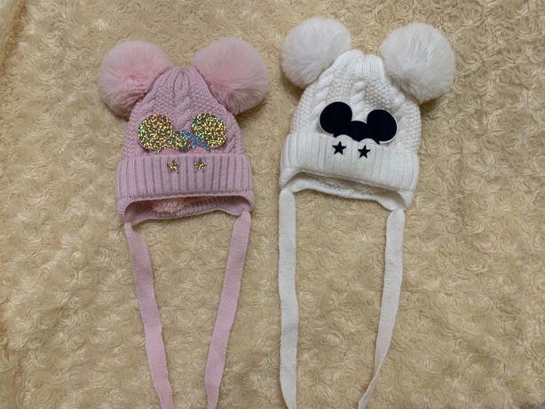 Продам теплые шапки для новорожденного
