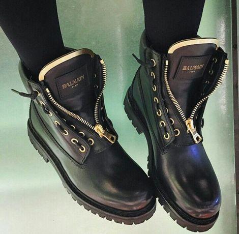 Женские ботинки « balmain»,натур. кожа. Зима