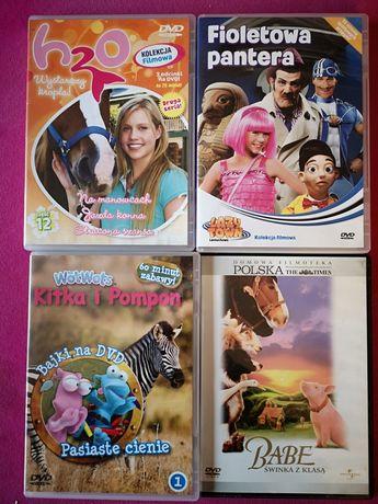 4szt filmy DVD dla dzieci i młodzieży Babe Fioletowa pantera H2O Kitka