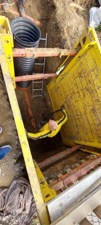 Prace ziemne drenaz światłowody przewody wodociągi studnie kanalizacja