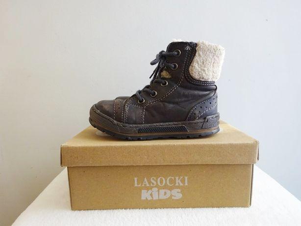 Lasocki * jesienno zimowe buty botki kozaki r. 24