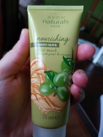 Avon odżywcza maseczka do twarzy zielona oliwka 75ml