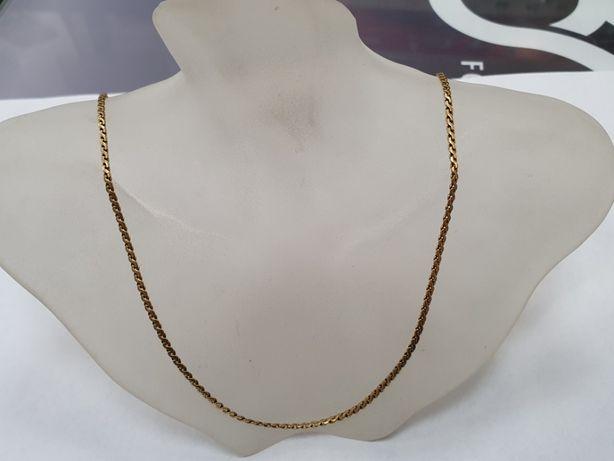Piękny złoty łańcuszek męski/ 750/ 10.7 gram/ 62cm/ Pełny/ Gdynia