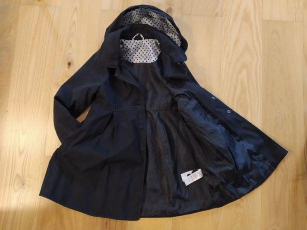 Czarny płaszczyk dziewczęcy rozm. 128