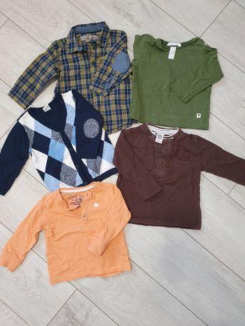 Zestaw, paka, paczka5 szt. Hm, zara, reserved. Koszula łaty, sweterek.