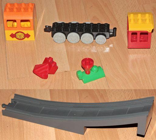 Lego Duplo klocki kolejka pociąg elementy most wiadukt kabina